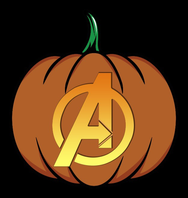 Avengers Logo Pumpkin Carving Template Free Vector And Clipart Ideas