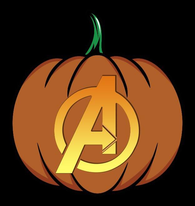 avengers pumpkin stencil