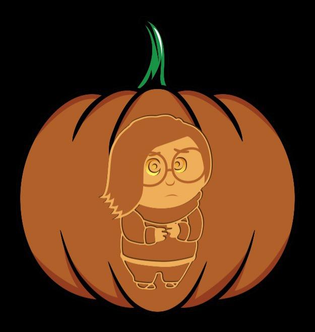 inside out sadness pumpkin stencil