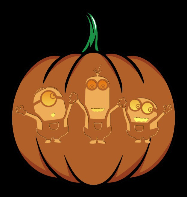 photo regarding Minion Pumpkin Stencil Printable named Pop Society Pumpkins: 2015 Version [Printables] - Halloween