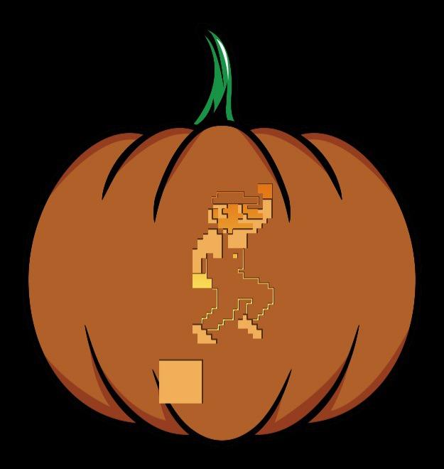 skinny mario pumpkin stencil