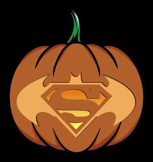 batman vs superman pumpkin stencil
