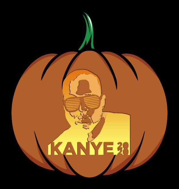 kanye 2020 pumpkin pattern