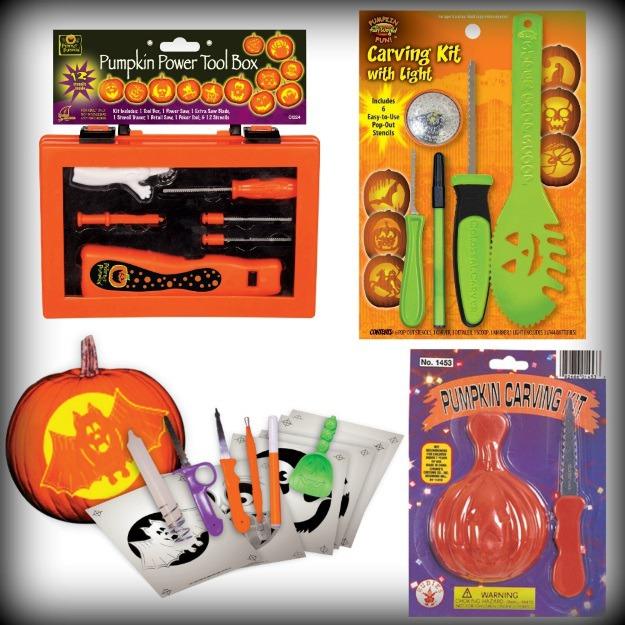 Pumpkin carving tools and kits