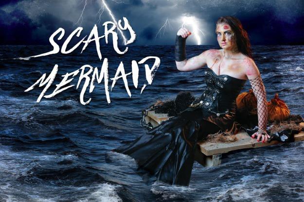 Diy scary mermaid costume makeup tutorial halloween costumes blog solutioingenieria Image collections