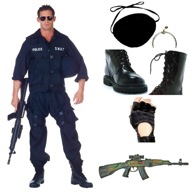 SWAT Jumpsuit Costume Pirate Eye Patch w/Earring Adult Black Combat Boots  sc 1 st  Halloween Costumes & DIY Metal Gear Solid Costume - Halloween Costumes Blog