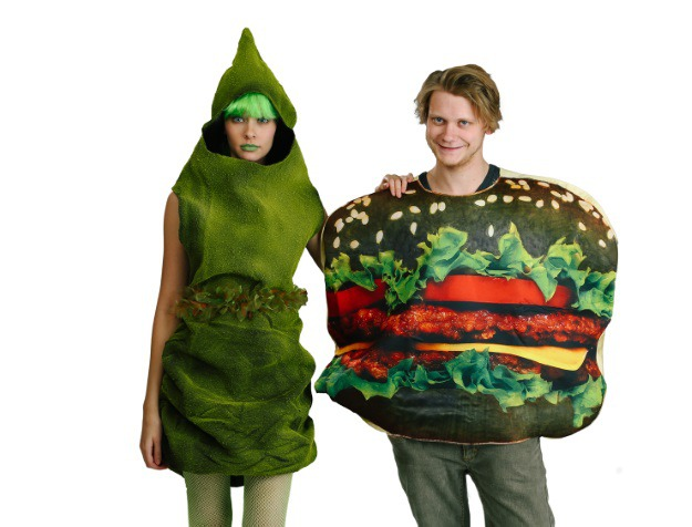 Halloween Whopper and Sexy Green Poop Couples Costume
