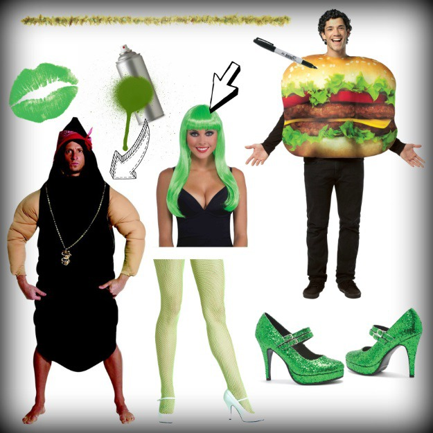 products used for sexy green poop burger king costume.jpg