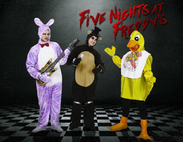 diy five nights at freddys diy group costume halloween costumes blog