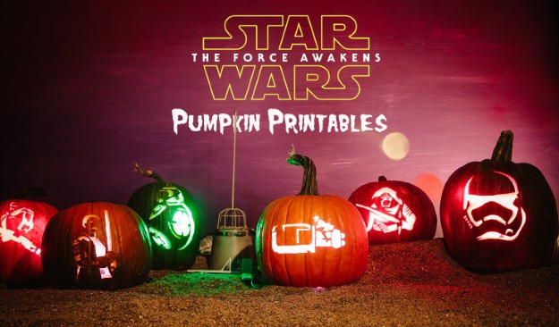 photo relating to Star Wars Pumpkin Stencils Printable named Star Wars: The Stress Awakens Pumpkin Styles [Printables