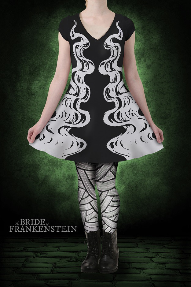 Bride of Frankenstein Skater Dress