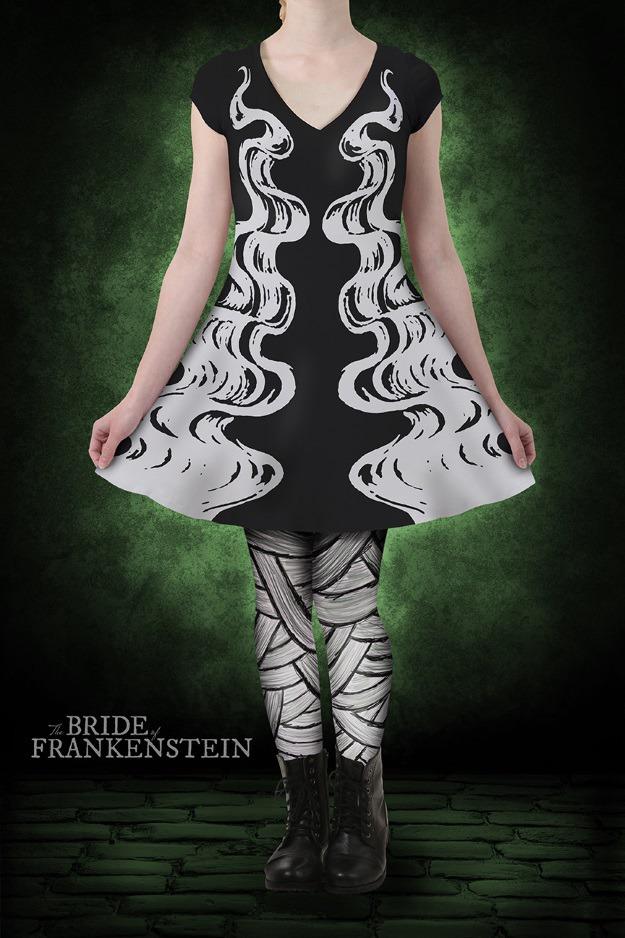 Bride of Frankenstein Skater Dress