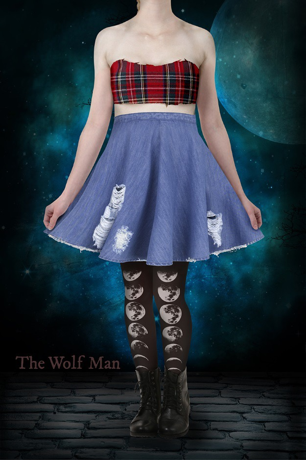 The Wolf Man Skater Dress