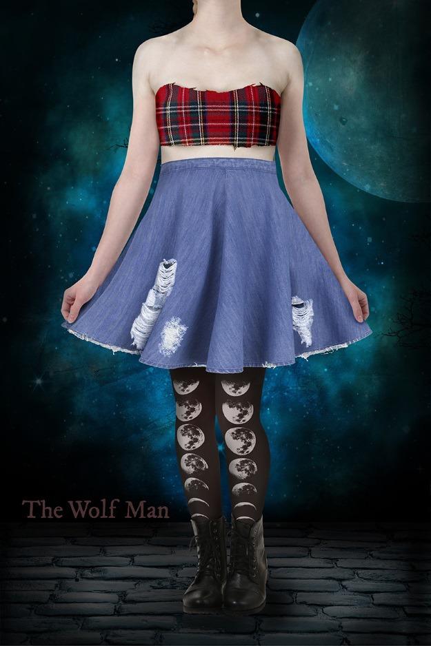 The Wolf Man Skater Dress