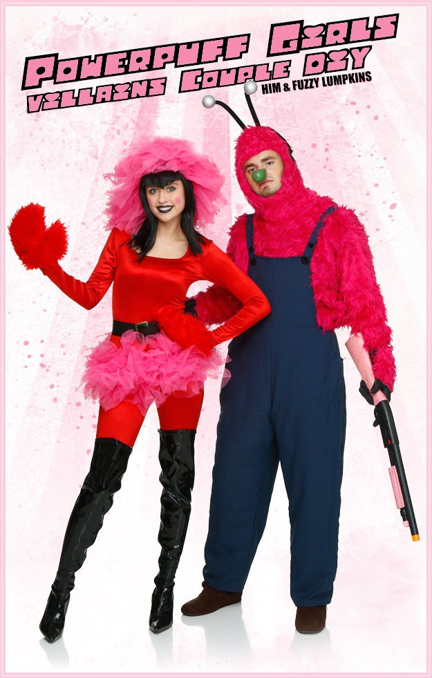 DIY Powerpuff Girls Fuzzy Lumpkins and HIM Couples Costume - Halloween Costumes Blog & DIY Powerpuff Girls Fuzzy Lumpkins and HIM Couples Costume ...