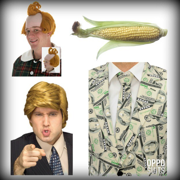 Products needed for donald trump corn silk meme costume