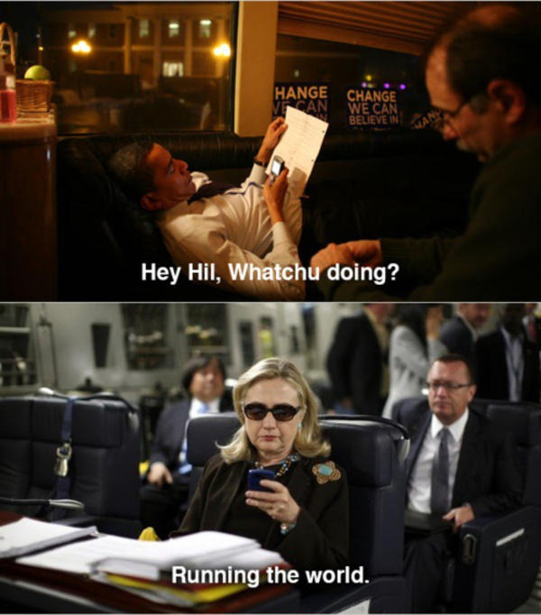 Texts from hillary meme