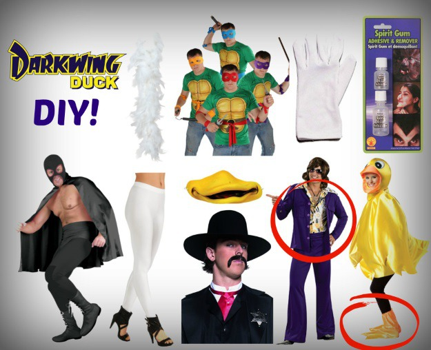 Diy darkwing duck halloween costume for throwback thursday darkwing duck diy products used solutioingenieria Gallery
