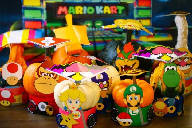 Printable Mario Kart Costumes for Gourds u0026 Miniature Pumpkins - Halloween Costumes Blog & Printable Mario Kart Costumes for Gourds u0026 Miniature Pumpkins ...