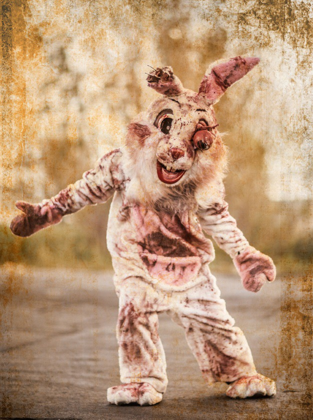 cute turned creepy diy bloody bunny costume halloween costumes blog - Bloody Halloween Masks