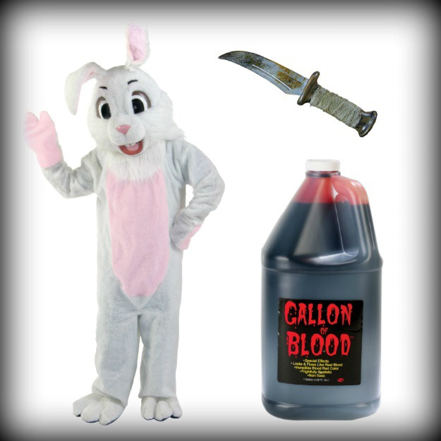 How to make a cute bunny costume terrifying