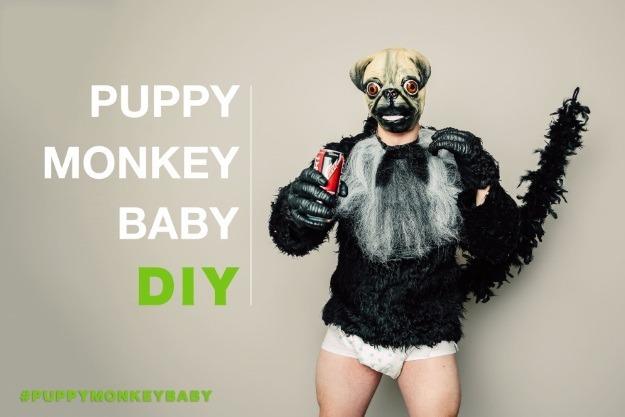 Puppy Monkey Baby Costume DIY