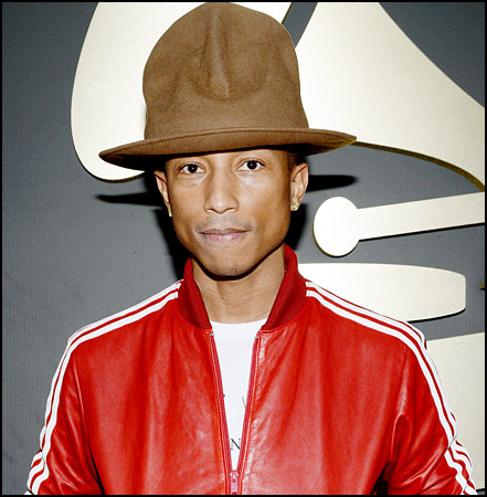 Pharrell Williams: Pharrell's Arby's look-a-like hat makes for an easy costume.