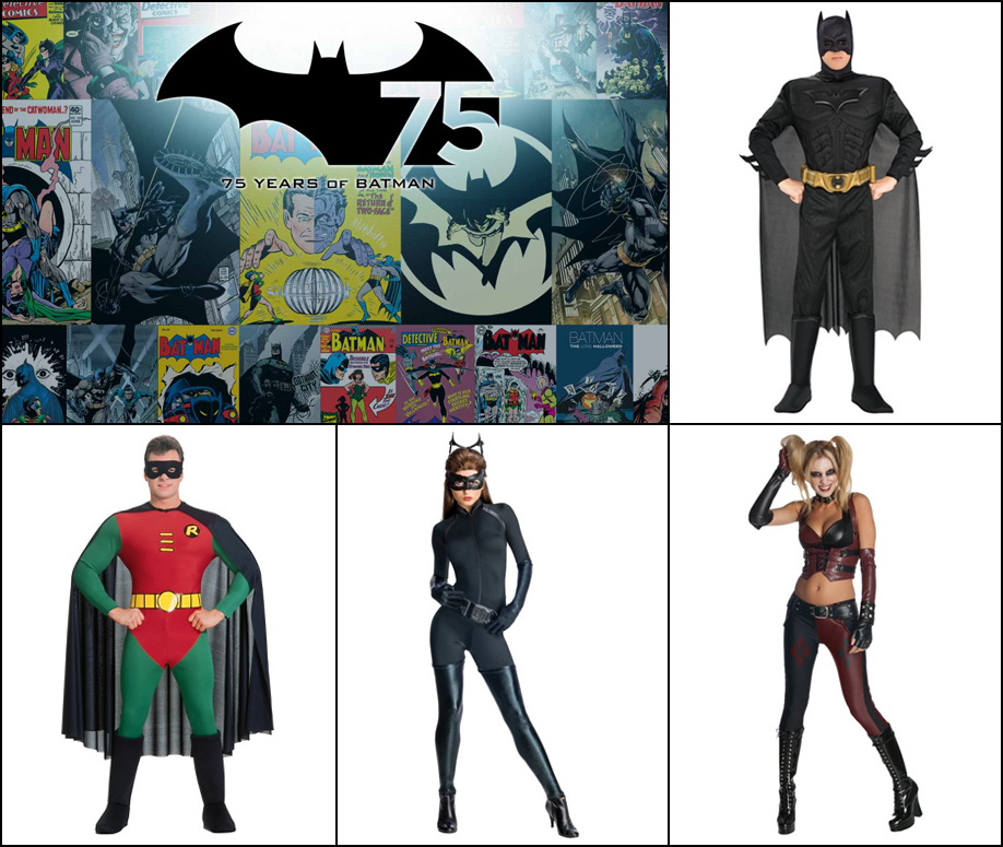 Batman 75th: Batman costumes never go out of fashion.