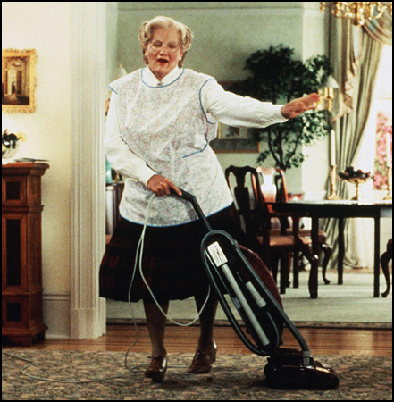 Robin Williams characters, like a Mrs Doubtfire costume, are a great way to honor the actor