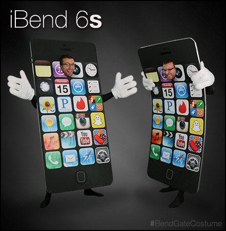 The iPhone 6's #bendgate scandal makes for a perfect topical costume this 2014!