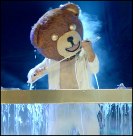 The Madden 15 trailer had lots of great costumes, but none better than the DJ Bear