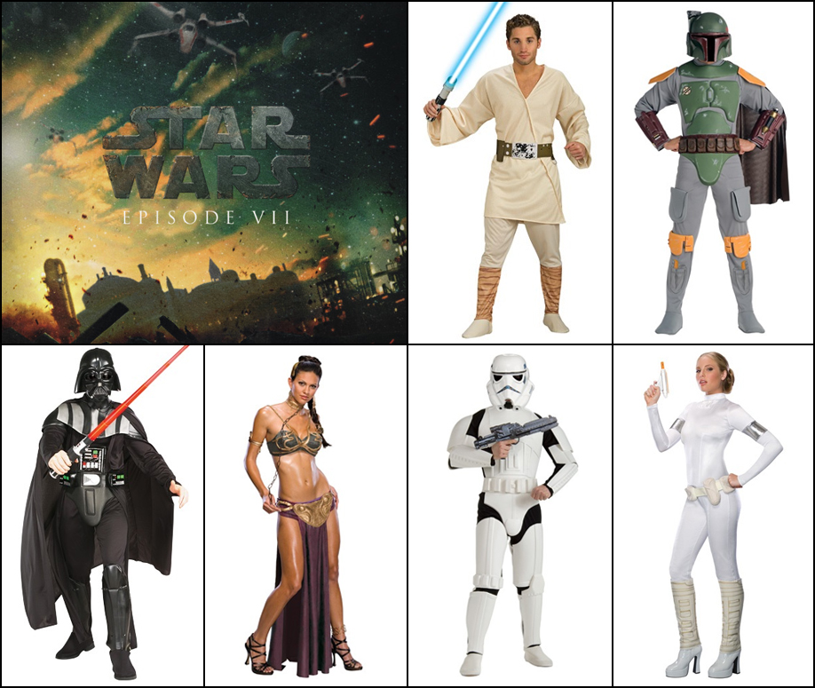 Star Wars: Take your pick of Jedi, Stormtroopers, Leia, Chewie, or any of your favorite Star Wars character costumes.