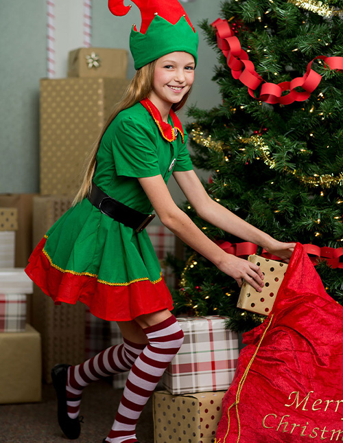 Girls' Elf Costume