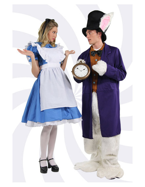 Alice and the White Rabbit Costumes