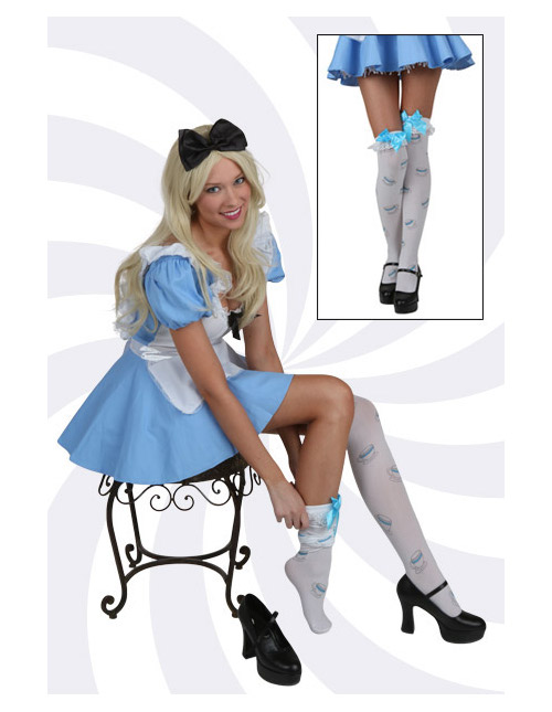 Alice Thigh-High Tea Cup Stockings