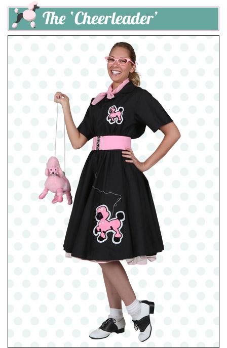The Cheerleader Poodle Skirt Look