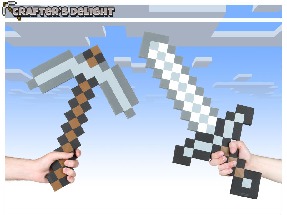 Minecraft Axe and Sword