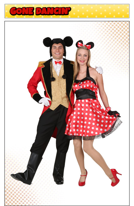 Mickey and Minnie Mouse Couples Costume Idea