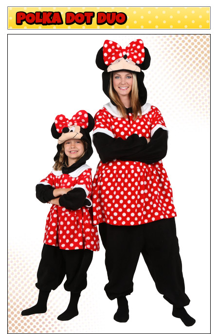 Mother and Daughter Minnie Mouse Costumes