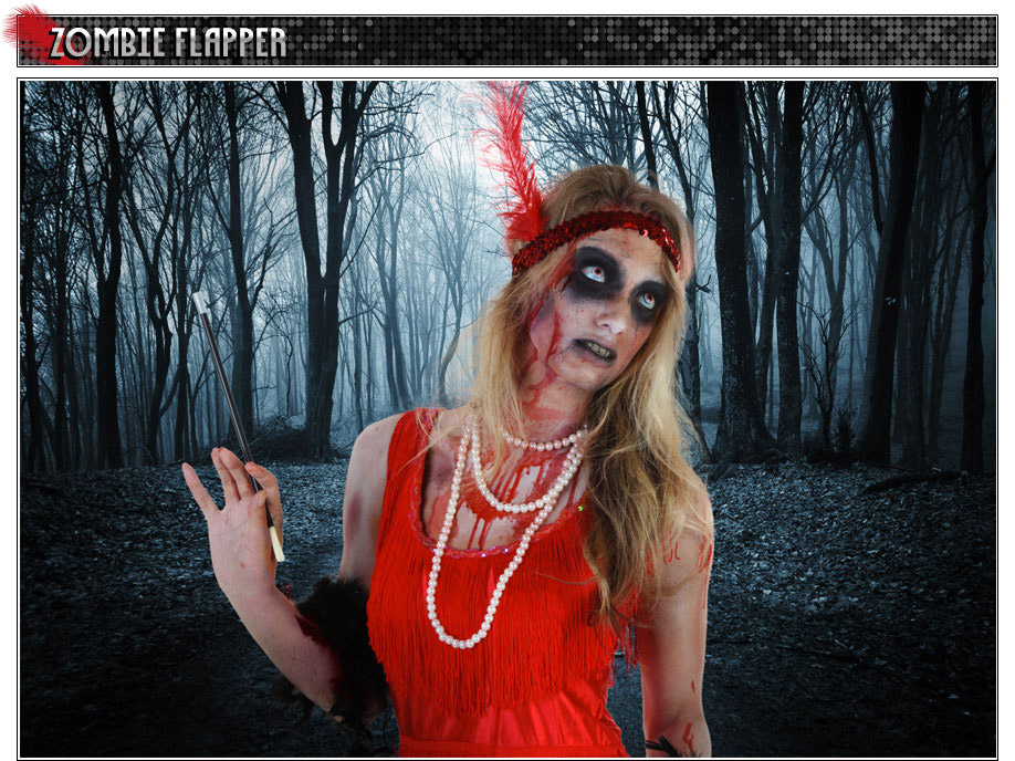 Zombie girl makeup
