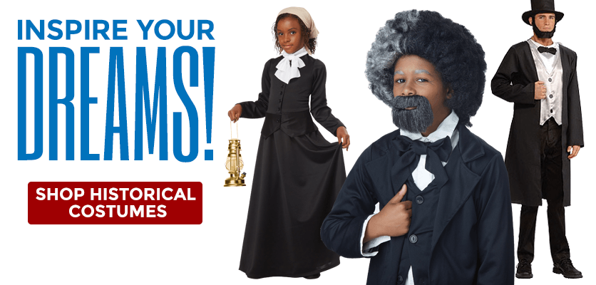 Inspire your dreams! Shop historical costumes.
