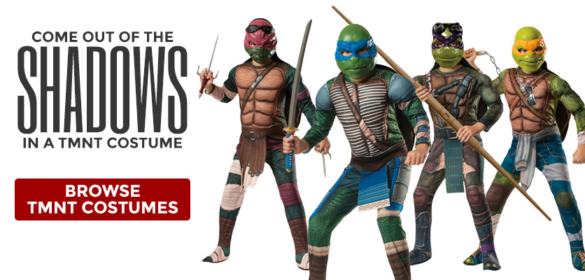 Come out of the shadows in a TMNT costume!