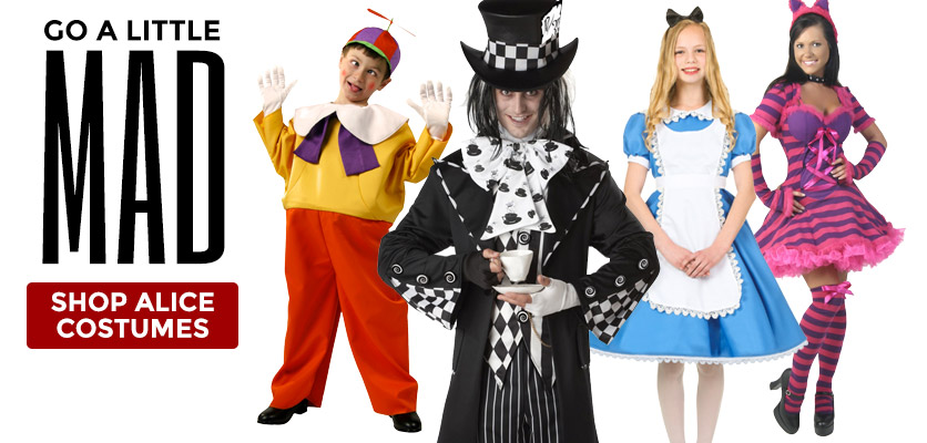 Go A Little Mad! Shop Alice Costumes!