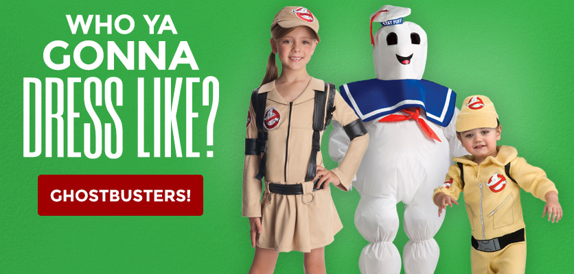 Who you gonna dress like? Ghostbusters!