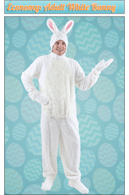Economy: Adult White Bunny Costume