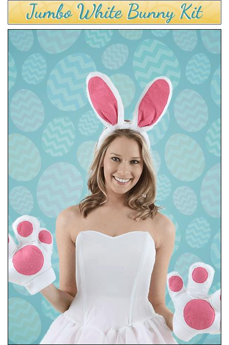 Jumbo White Bunny Accessory Kit
