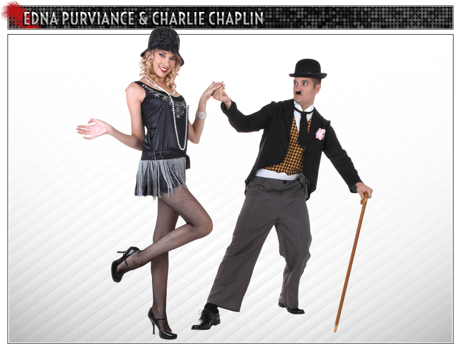 Edna Purviance and Charlie Chaplin Couples Costume