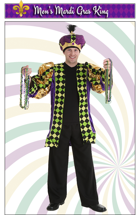 Men's Mardi Gras King Costume