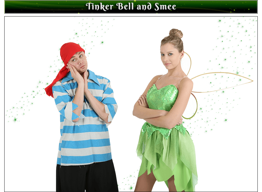 Tinker Bell and Smee Couples Costume Idea