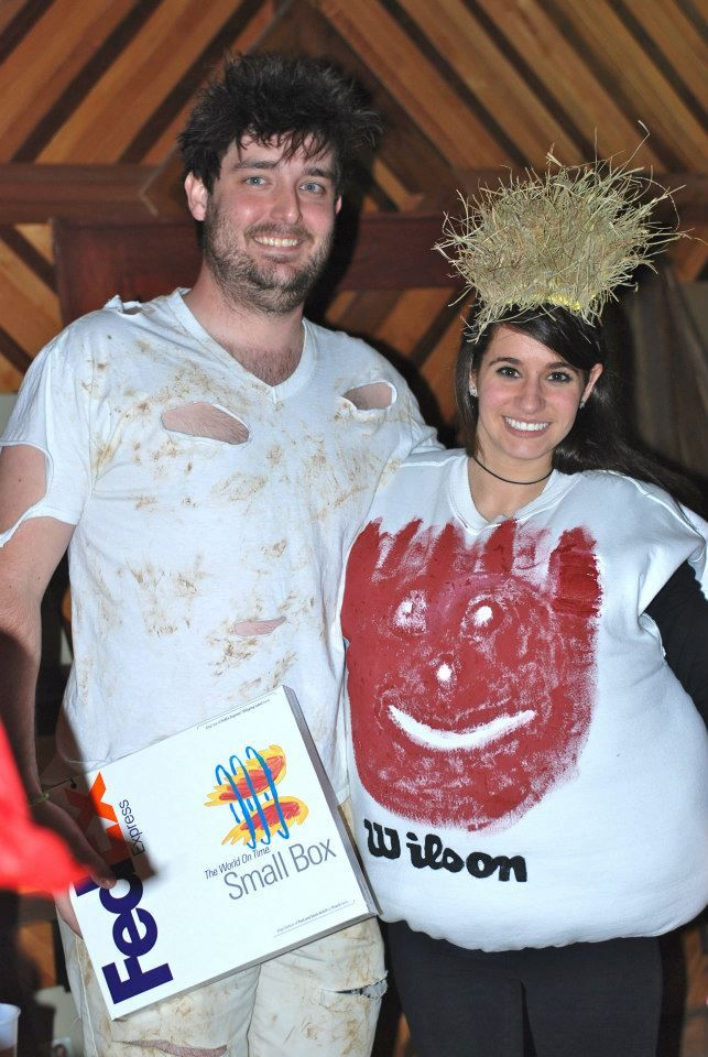 Two people playing characters from the movie. Castaway.  sc 1 st  Media Coursework : movie character couples costume ideas  - Germanpascual.Com